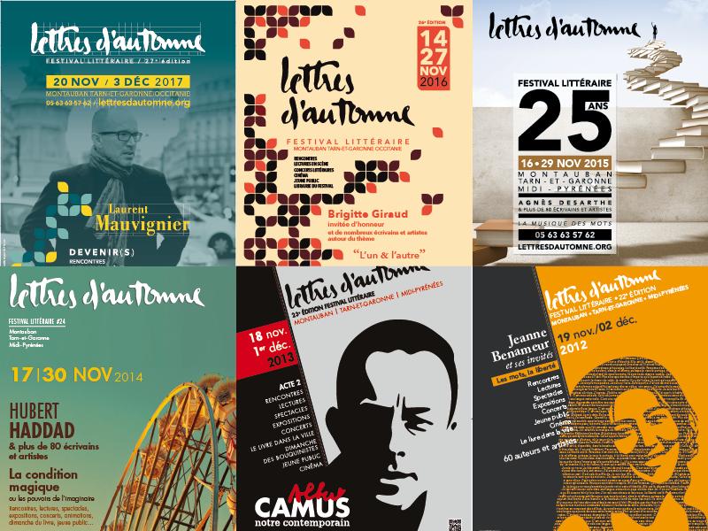 Affiches Lettres d'automne