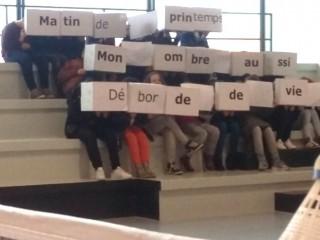 Un tifo poétique pour le nouveau gymnase