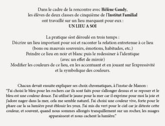 Rencontre avec Hélène Gaudy