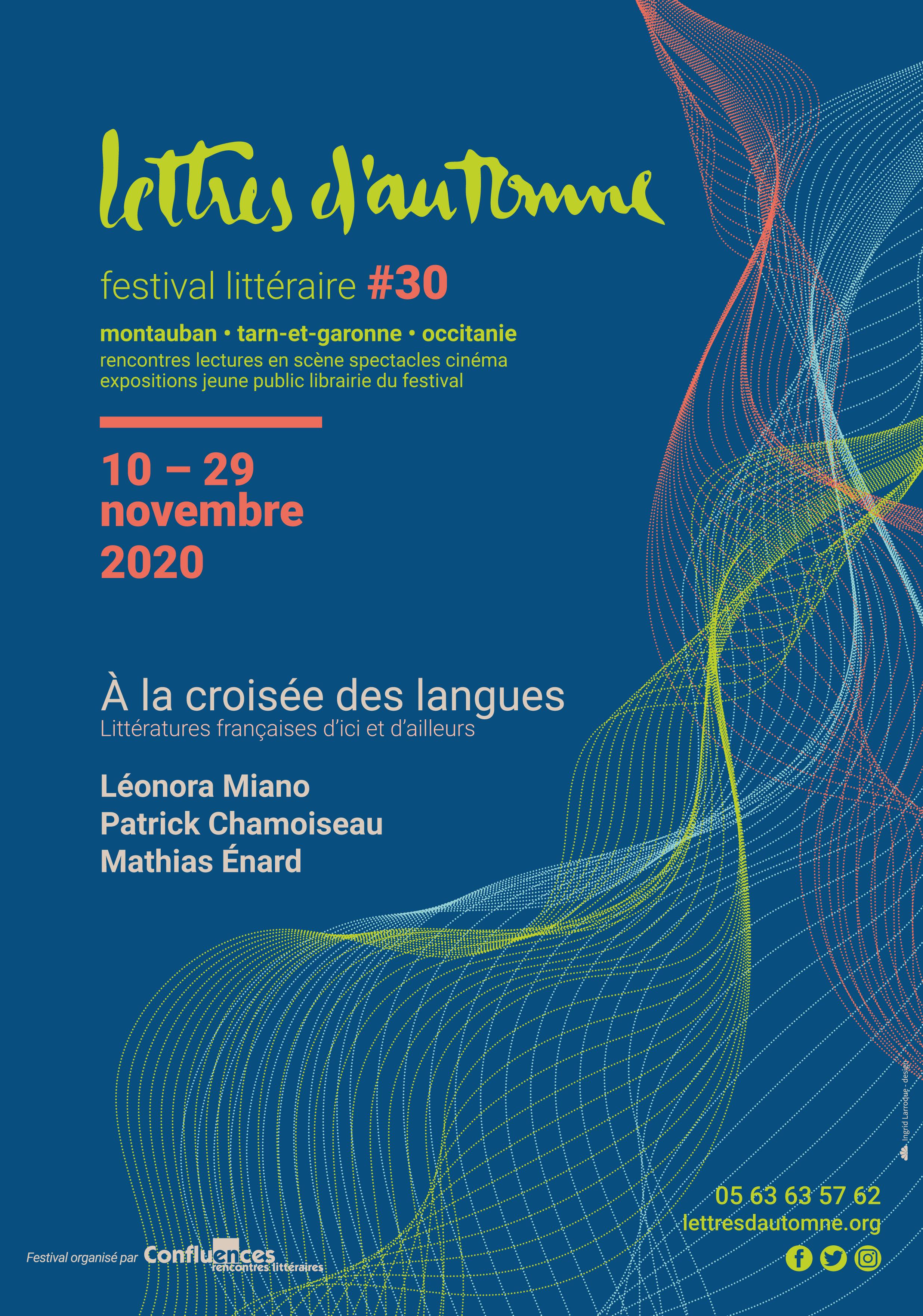 L'affiche de la 30e édition de Lettres d'Automne à MOntauban est signée Ingrid Larroque
