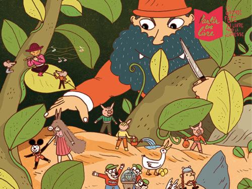 Ilustration originale de Yohan Colombié Vivès pour Partir en livre 2020 avec Confluences Montauban