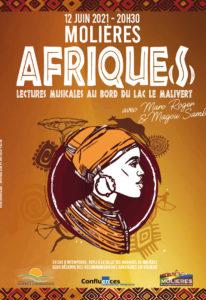 Afriques lecture musicale à Molières (82) - 2021
