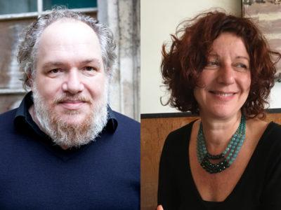 Portraits de Mathias Enard et Nathalie Vinot