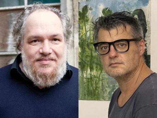 Portraits de Mathias Enard et Pierre Marquès