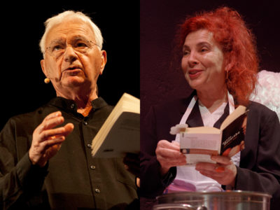 Maurice Petit et Nathalie Vidal, comédiens, en photos lors du festival Lettres d'automne